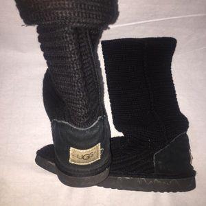UGG Size 9 Black Crochet boots!